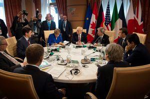 Les membres du G7 réunis à Taormina, en Sicile.