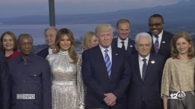 G7 à Taormina: Donald Trump en désaccord sur les questions climatiques et commerciales [RTS]