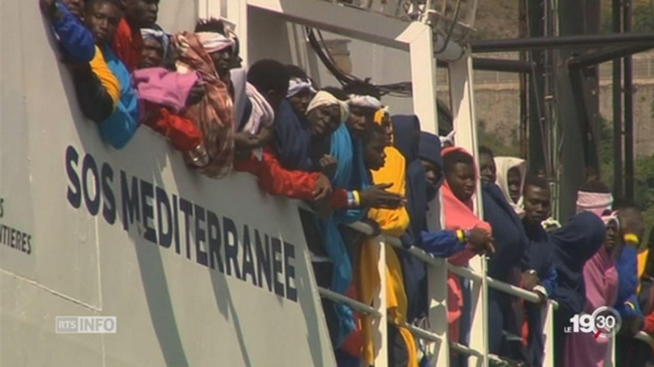 Crise migratoire, chaos en Méditerranée au large de la Lybie [RTS]