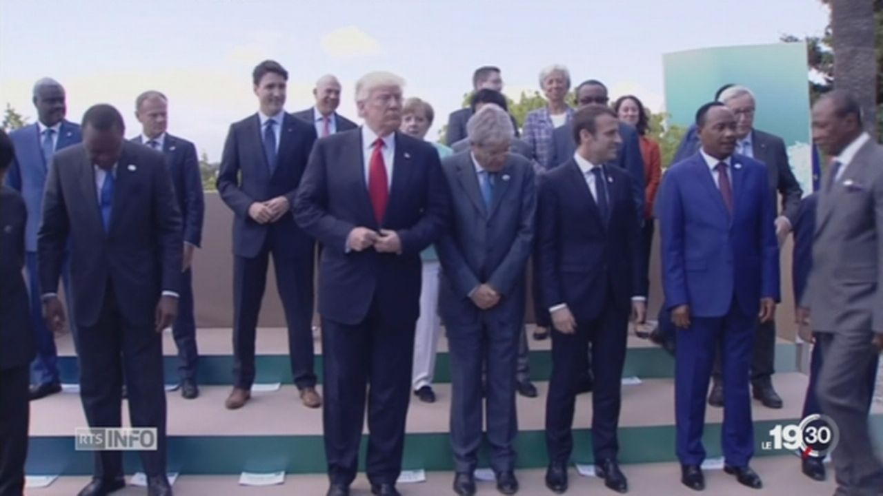 Clôture du sommet du G7: divergences américaines [RTS]