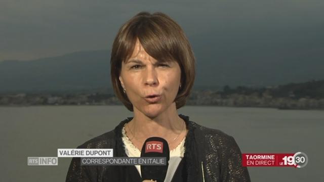 Fin du sommet du G7: duplex de Valérie Dupont [RTS]