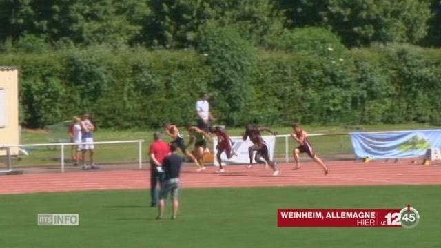 Athlétisme: Alex Wilson bat les records de Suisse du 100m et 200m au meeting de Weinheim [RTS]