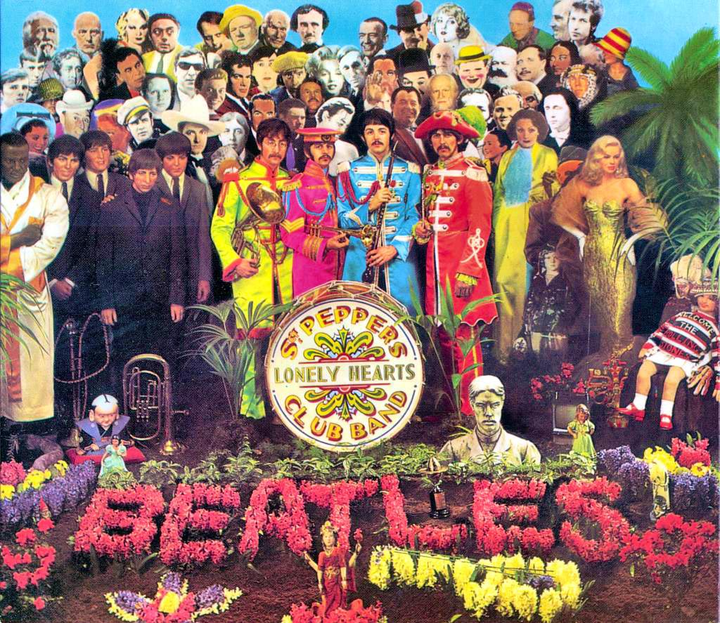 "La pochette de l'album ""Sgt. Pepper's Lonely Hearts Club Band"" des Beatles."