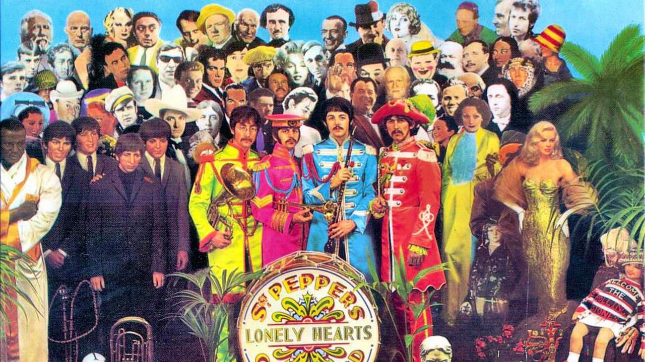 "La pochette de l'album ""Sgt. Pepper's Lonely Hearts Club Band"" des Beatles. [Apple Corps Ltd - RTS]"