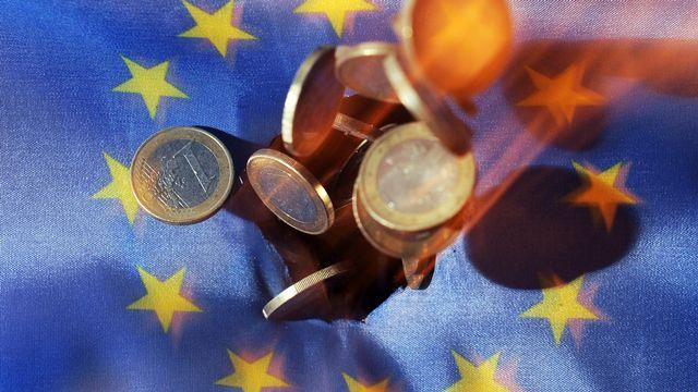 L'euro, monnaie de l'Union européenne. [Uli Deck - Keystone]