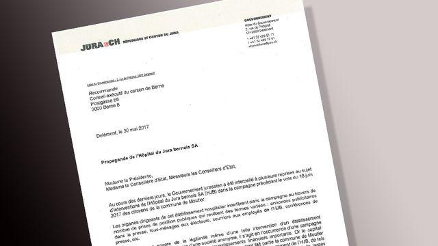 """Le gouvernement jurassien a écrit à son homologue bernois pour dénoncer une """"propagande"""" de l'Hôpital du Jura bernois."""