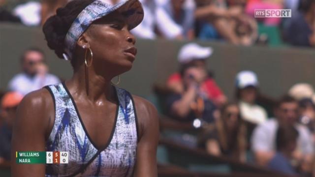 Roland-Garros, 2e tour: Williams (USA) – Nara (JPN) 6-3 6-1 [RTS]