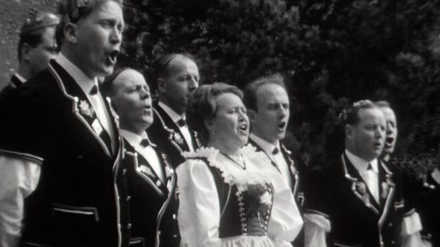 Groupe de jodel, 1965. [RTS]
