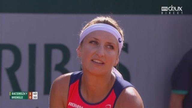 Roland-Garros, 2e tour: Bacsinszky (SUI) – Brengle (USA) 6-0 [RTS]