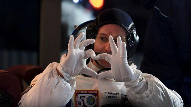 L'astronaute français Thomas Pesquet lors de son départ pour la Station spatiale internationale en novembre 2016. [Reuters]