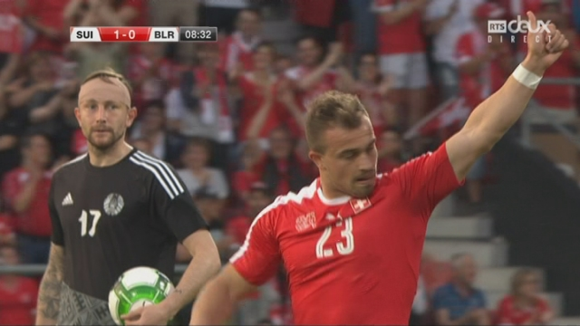Match amical, Suisse – Bélarus 1-0, 9e Shaqiri [RTS]