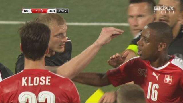 Match amical, Suisse – Bélarus 1-0, les esprits s'échauffent [RTS]