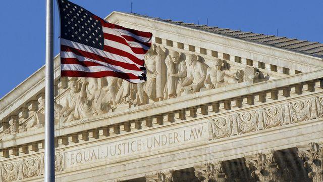 La Cour suprême américaine, à Washington. [Alex Brandon - Keystone]