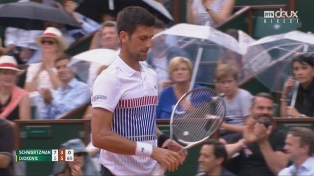 Roland-Garros, 3e tour: Schwartzman (ARG) – Djokovic (SRB) 7-5 3-6 [RTS]