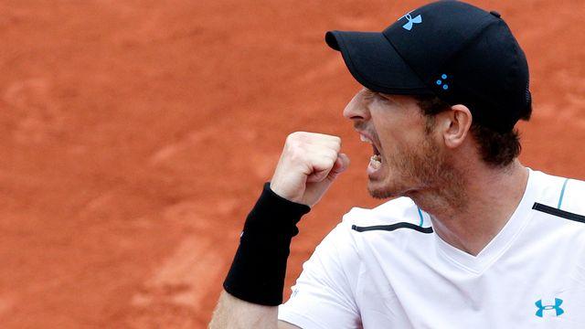 Andy Murray connu pour sa hargne, a franchi l'obstacle Juan Martin del Potro. [Christophe Ena - Keystone]
