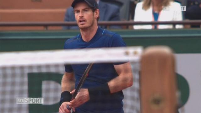 Roland-Garros, 3e tour: Murray (GBR) – Del Potro (ARG) 7-6 7-5 6-0 [RTS]