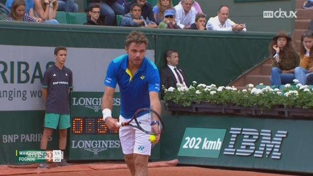 Tennis - Roland-Garros (3e tour): Stan Wawrinka - Fabio Fognini (7-6, 6-0, 6-2) [RTS]