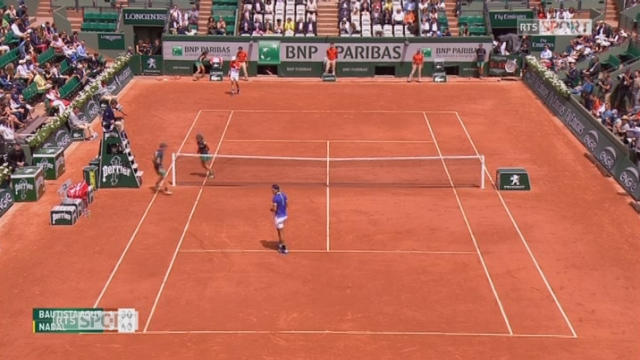 Roland-Garros, 4e tour Bautista Agut (ESP) - Nadal (ESP) 1-6 [RTS]