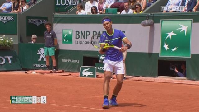 Roland-Garros, 4e tour Bautista Agut (ESP) - Nadal (ESP) 1-6 2-6 [RTS]