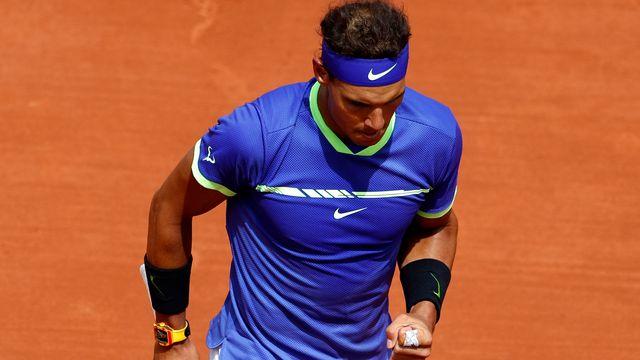 Rafael Nadal continue sa promenade de santé dans ce Roland-Garros 2017. [Petr David Josek - Keystone]