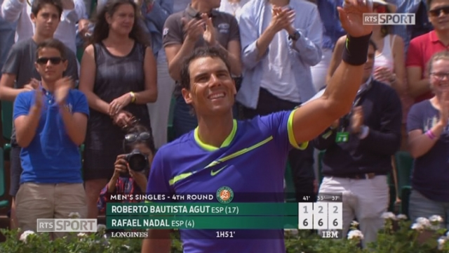 Roland-Garros, 4e tour Bautista Agut (ESP) - Nadal (ESP) 1-6 2-6 2-6 [RTS]