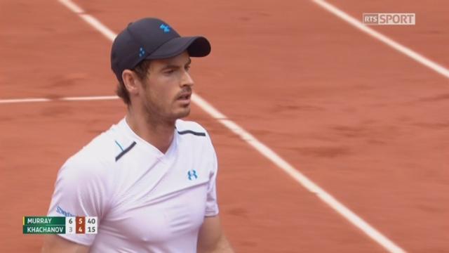Roland-Garros, 4e tour: Murray (GBR) – Khachanov (RUS) 6-3 6-4 [RTS]