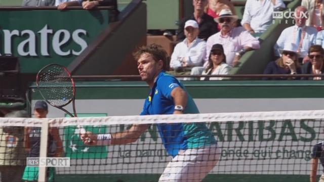 Roland-Garros, 4e tour: Wawrinka (SUI) – Monfils (FRA) 7-5 7-6 [RTS]
