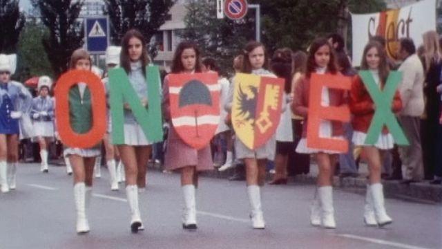 Fête champêtre à Onex en 1975. [RTS]