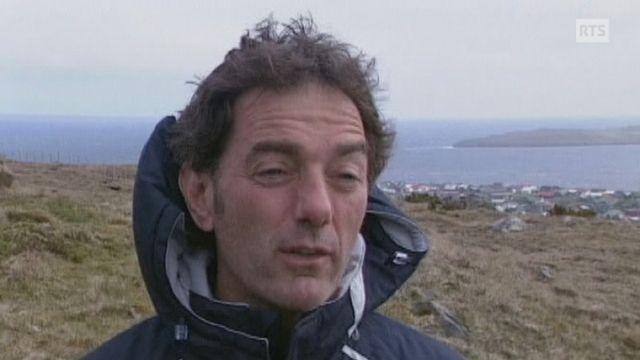Michel Pont aux Iles Féroé en 2005. [RTS]
