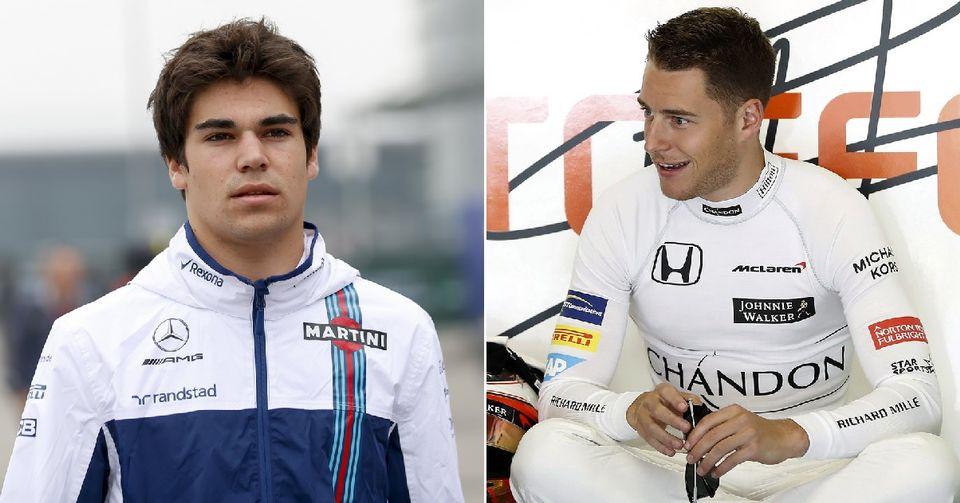 Lance Stroll et Stoffel Vandoorne ont fait leurs grands débuts en F1 cette saison. [L.Bo Bo/A.Dalmau - Keystone]