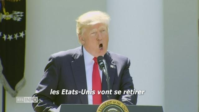 Donald Trump annonce le retrait des Etats-Unis de l'accord de Paris sur le climat [RTS]