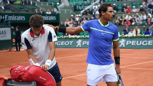 Nadal n'a une nouvelle fois pas traîné sur le court de Roland-Garros. [Gabriel Bouys - AFP]