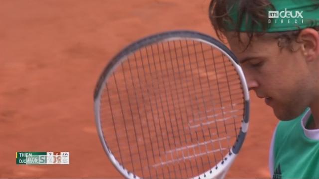 Roland-Garros, 1-4: Thiem (AUT) – Djokovic (SRB) 7-5 6-3 [RTS]