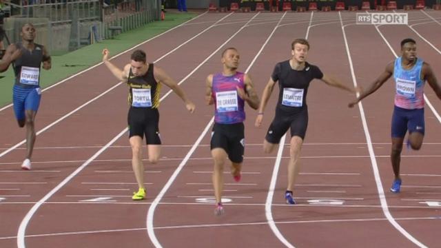 Rome (ITA), 200m: Andre De Grass (CAN) s'impose devant Lemaitre (FRA) et Webb (USA) [RTS]