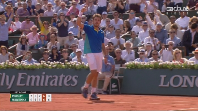 Roland-Garros, 1-2: Murray (GBR) – Wawrinka (SUI) 7-6 3-6 7-5 6-7 [RTS]