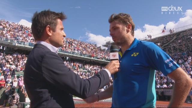 Roland-Garros, 1-2: l'interview de Stan Wawrinka après sa demi-finale [RTS]