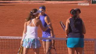 Roland-Garros, 1-2: Mattek-Sands (USA) - Safarova (CZE) – Chan (TPE) - Hingis (SUI) 6-4 6-2 [RTS]