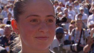La première réaction de Jelena Ostapenko après sa victoire à Roland-Garros [RTS]