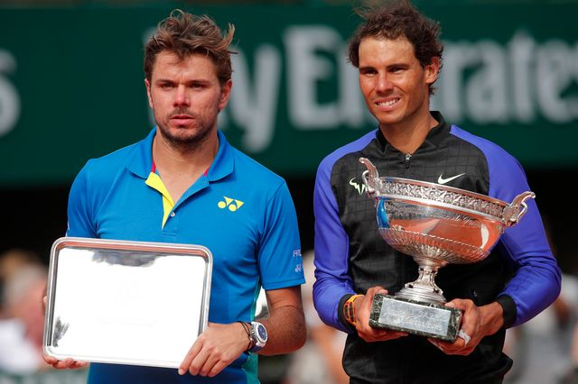Stan Wawrinka n'a rien pu faire face à Rafael Nadal. [Christophe Ena - Keystone]