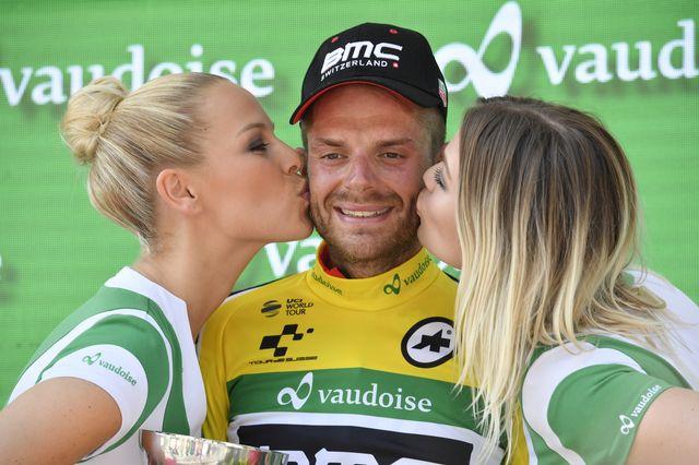 Damiano Caruso est le nouveau leader du Tour de Suisse. [Gian Ehrenzeller - Keystone]