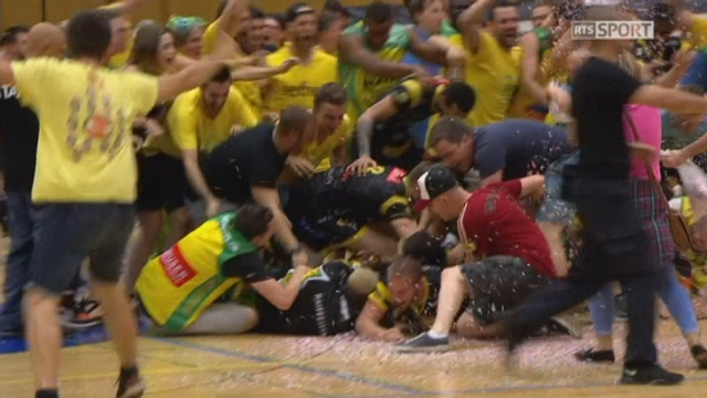 Playoffs -  Genève - Monthey (69-77): Monthey remporte le match et devient Champion Suisse [RTS]