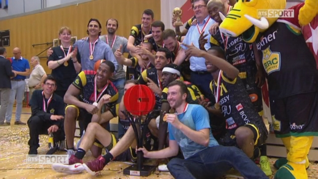 Playoffs - Genève - Monthey (69 - 77): Monthey, champions Suisse 2017 [RTS]