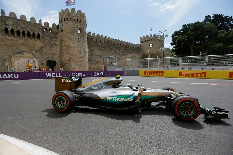Bakou accueille le championnat du monde de F1 depuis l'an dernier. [Zurab Kurtsikidze - Keystone]