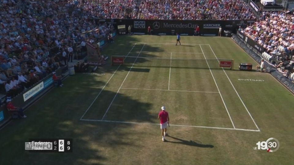 Tennis-Stuttgart: Federer s'est fait surprendre par Haas lors de son retour sur gazon [RTS]