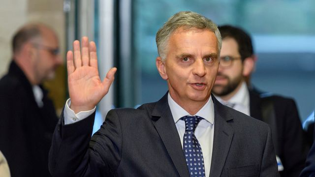 Le conseiller fédéral chargé des Affaires étrangères Didier Burkhalter. [Martial Trezzini - Keystone]