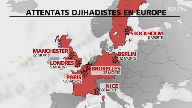 Terrorisme : peur sur les villes ? [RTS]