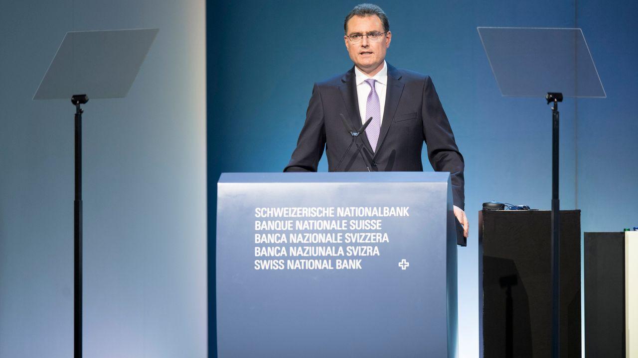 Le président de la BNS THomas Jordan, photographié en avril 2017 à Berne. [Anthony Anex - Keystone]