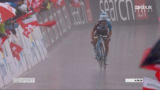 5e étape: Domenico Pozzovivo (ITA) remporte l'étape et le maillot jaune [RTS]
