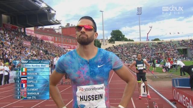 Meeting d'Oslo, 400m haies: Kariem Hussein (SUI) termine à la 6e place [RTS]