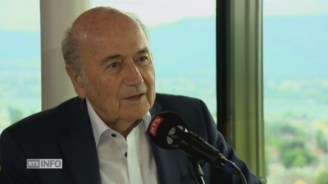 "Sepp Blatter: ""On triche dans le football"" [RTS]"